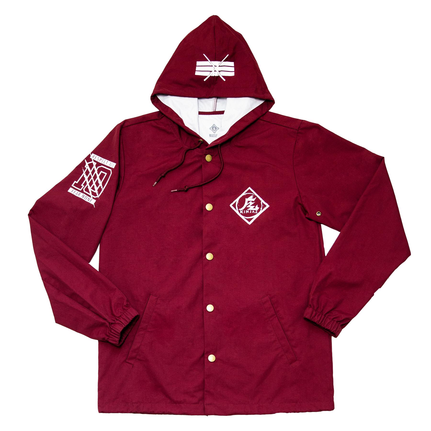 D W quot kin quot koaches jacket maroon kin aesthetik