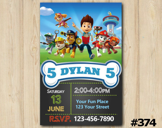 paw patrol invitation template free - paw patrol invitation paw patrol birthday invitation paw