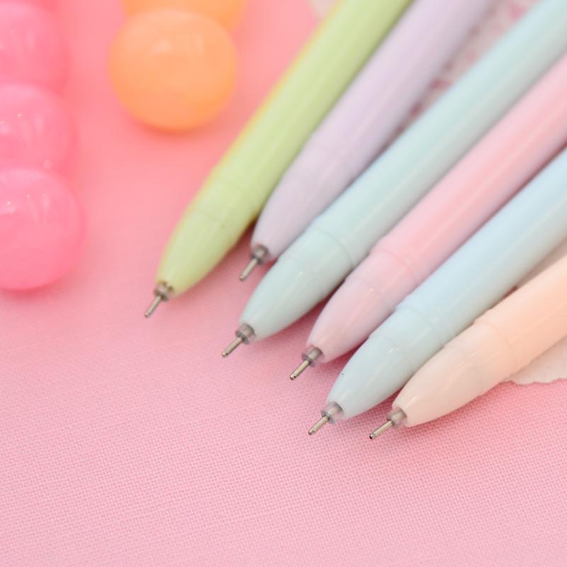 ... 6PCS Pastel Dango Sweet Black Gel Pen - FREE SHIPPING Kawaii Pastel  Japanese Dango Sweet Black ...