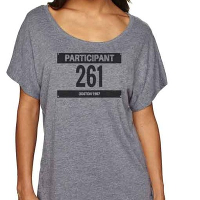"Feminist tshirt: ""the runner"" shirt by fourth wave feminist apparel (gray) inspired by kathrine switzer"