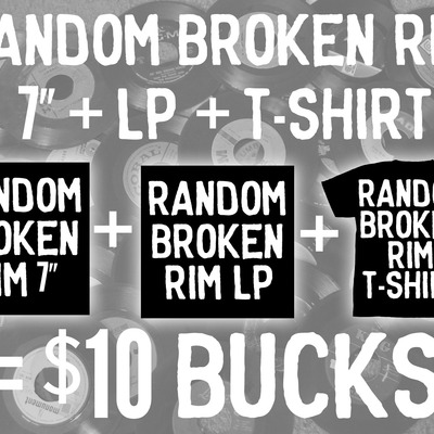 "Random broken rim 7"" + lp + t-shirt"