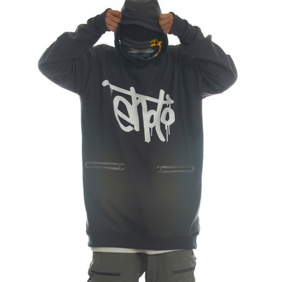 [season off sale] ehoto ski & snowboard hoodie magnum line (waterproof) - signature (darkgrey)