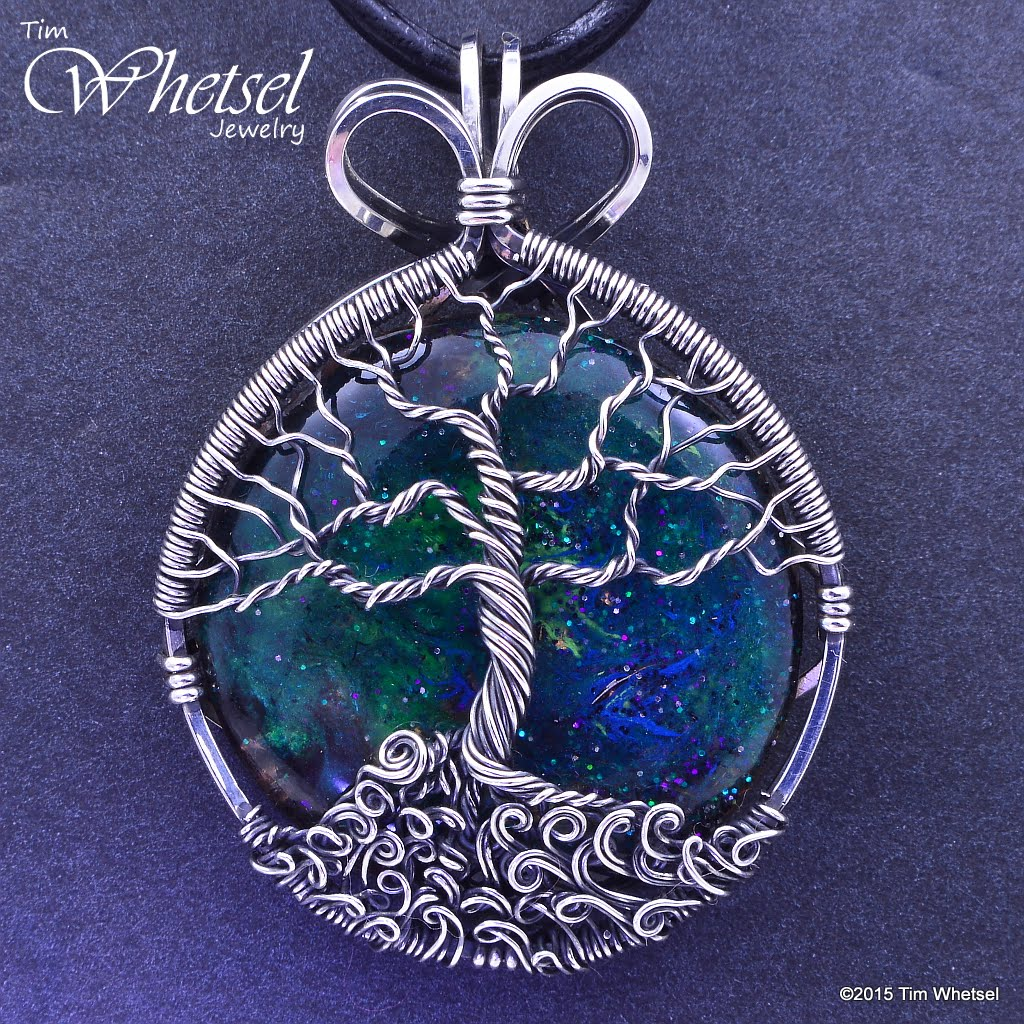 Sterling Silver Tree of Life Orgonite Necklace Pendant - Wire Wrap ...
