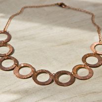Bold Copper Discs Necklace