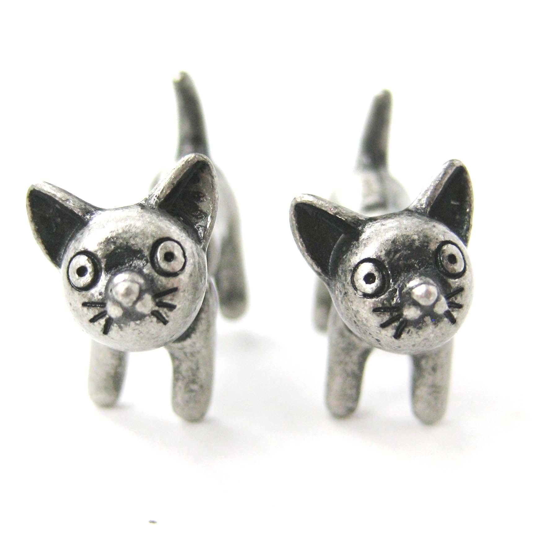 Anime Kitty Ears Animal Stud Earrings in