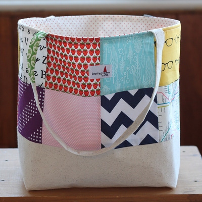 Patchwork sweater tote #5
