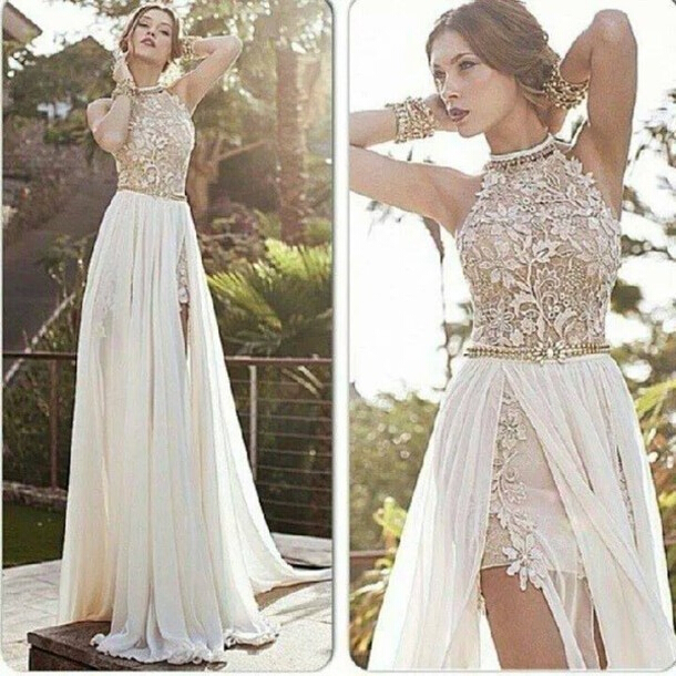 white prom dress, long prom dress, prom dress