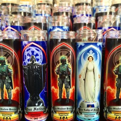 Whole set of 5 star wars prayer candle white