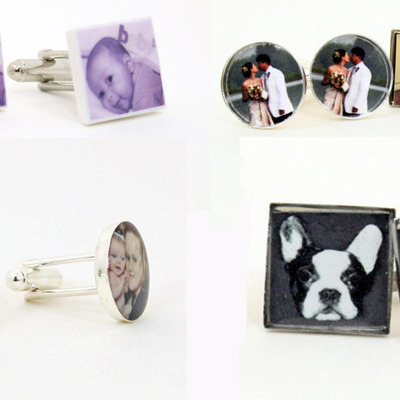 """your own photo"" cufflinks for him (mto) handmade"