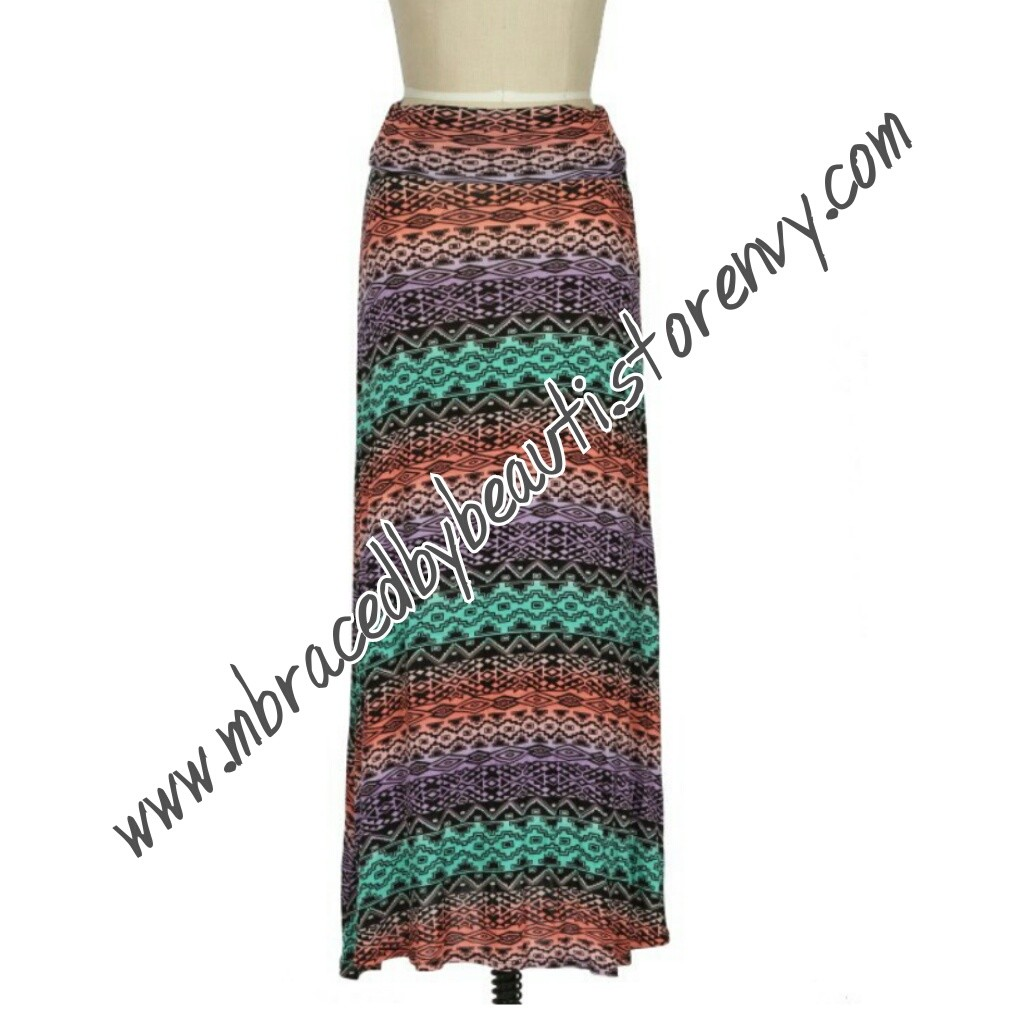 aztec print maxi skirt 183 beau ty shop 183 store