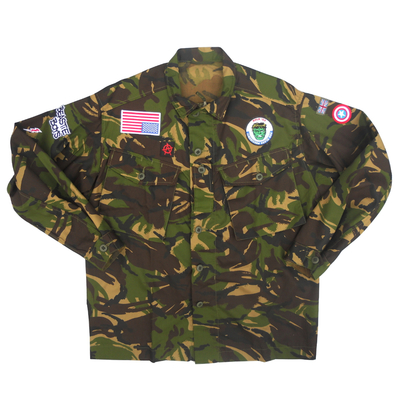 Long sleeved camouflage shirt - british military x american anarchy brand