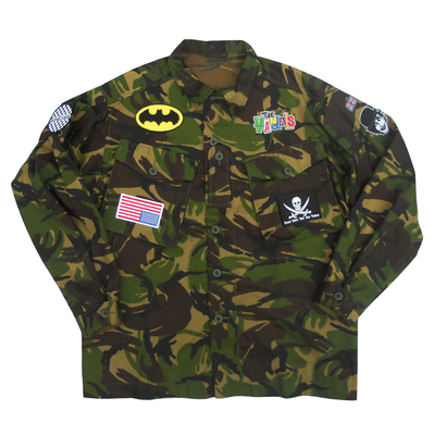 Long sleeved camouflage shirt x british military x american anarchy brand