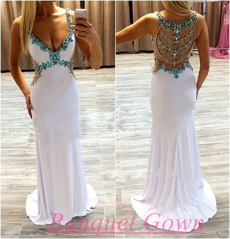 Evening Gowns White
