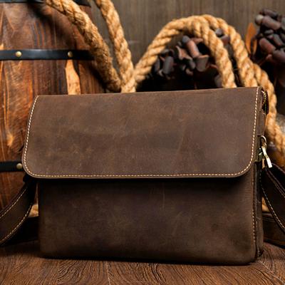 ac8099d02e Handmade Leather messenger bag