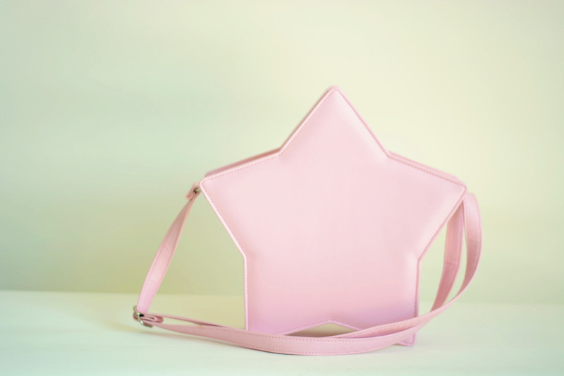 Star shape shoulder bag cute lolita bag star zipper 6 colors free ...