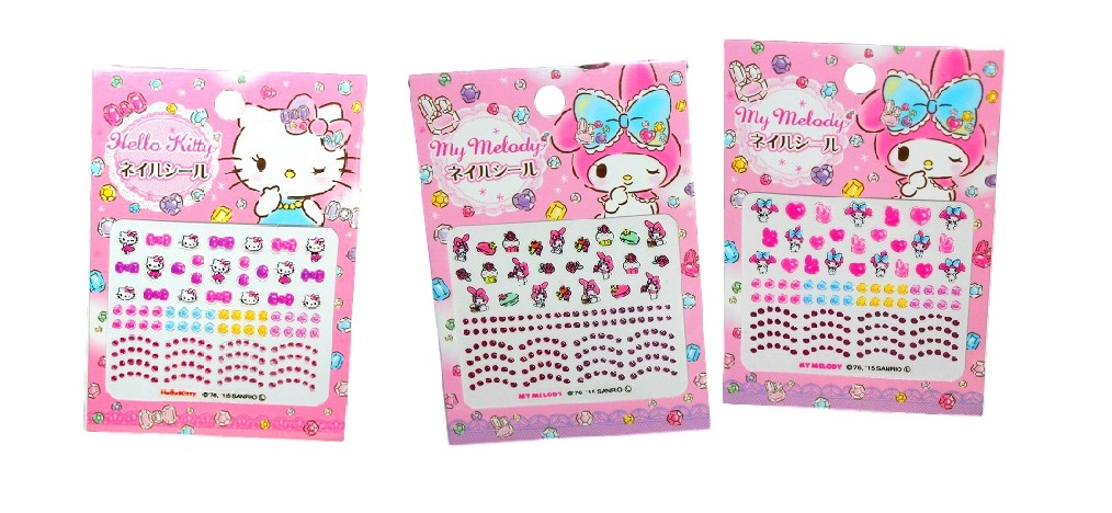 Sanrio Nail Stickers (Hello Kitty, My Melody)- Sanrio Cosmetics and  Accessories