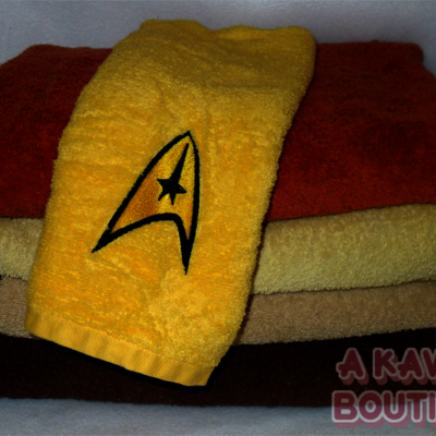 Star Trek Inspired Command Division Gold Shirt Hand Towel