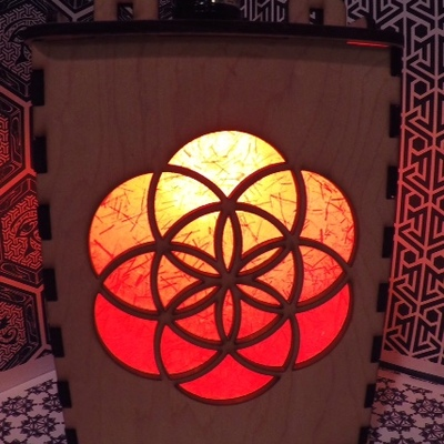 Sacred geometry lantern (seed of life)