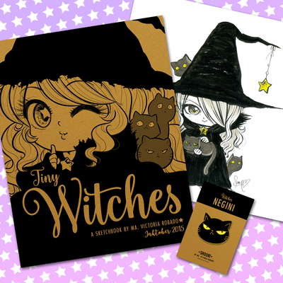 Tiny witches sketchbook - gold pack - pre-order