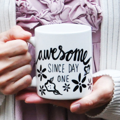 11oz awesome since mug