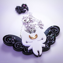 Fairy Kitty (White / Black Glitter)