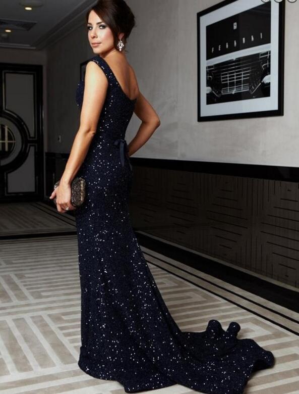 Sequin Prom Dresses Navy Blue Prom Dresses Mermaid Prom Dresses