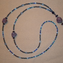Beaded Lanyard Blue/Aqua/Purple (Spec. Order)