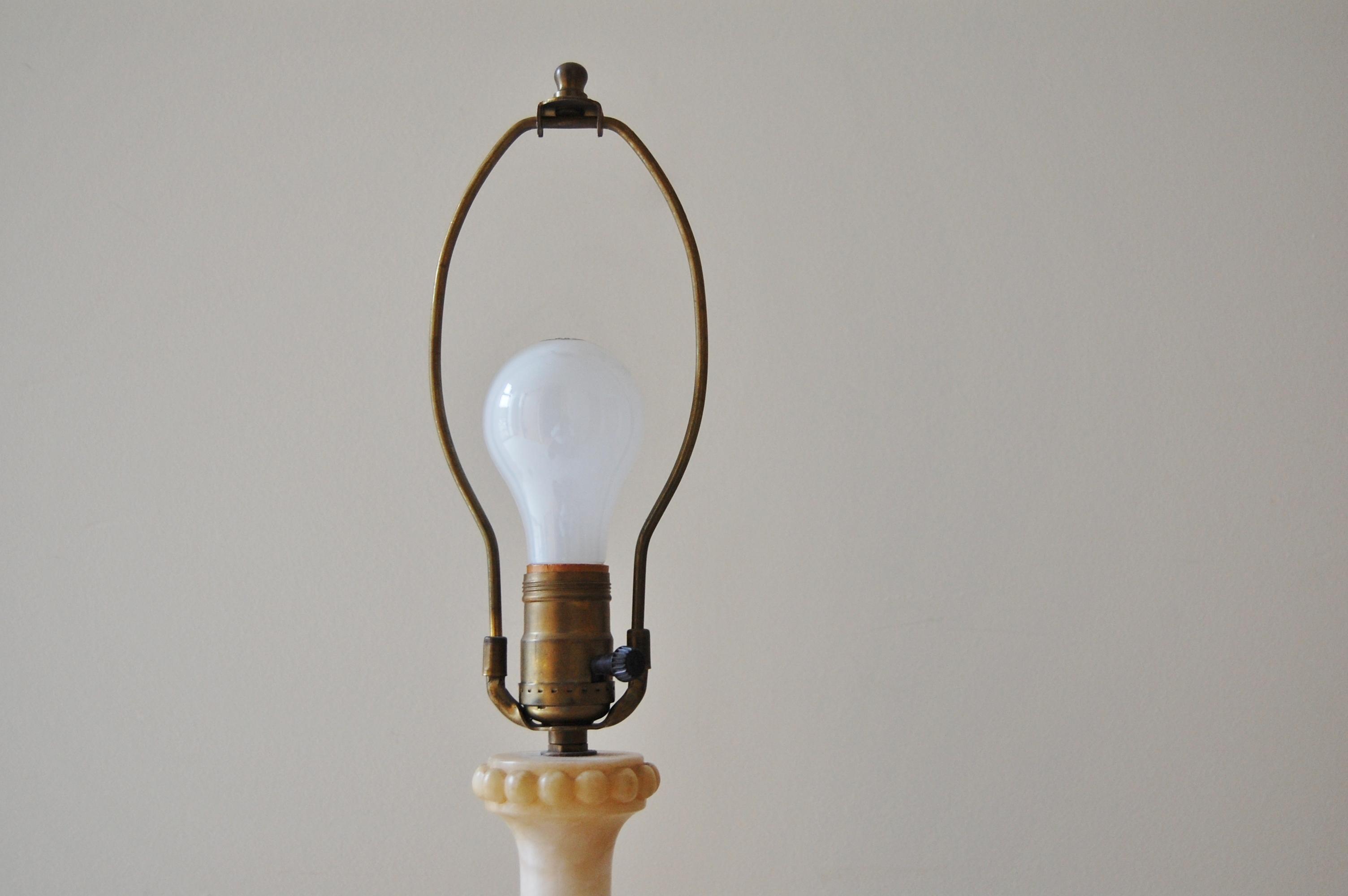 Vintage Alabaster Lamp 44