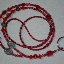 Beaded Lanyard Red (Special Order)