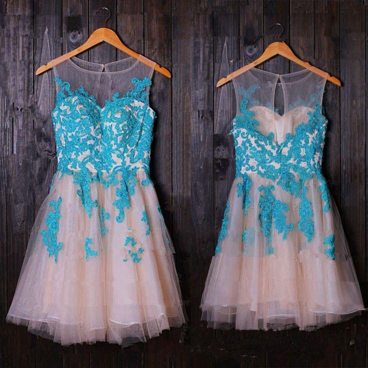 Pretty Lace Mini Homecoming Dresses,Short Prom Dresses,Cap Sleeves ...