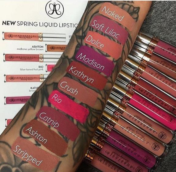ABH liquid lipstick swatches   Lips   Pinterest   Abh