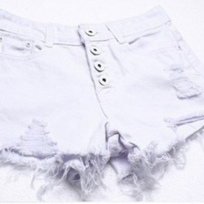 White high waist shorts