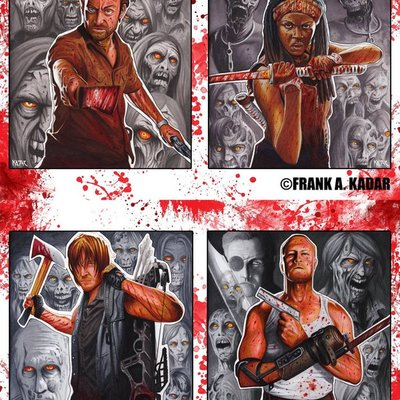 "The walking dead limited edition print set 11"" x 17"""