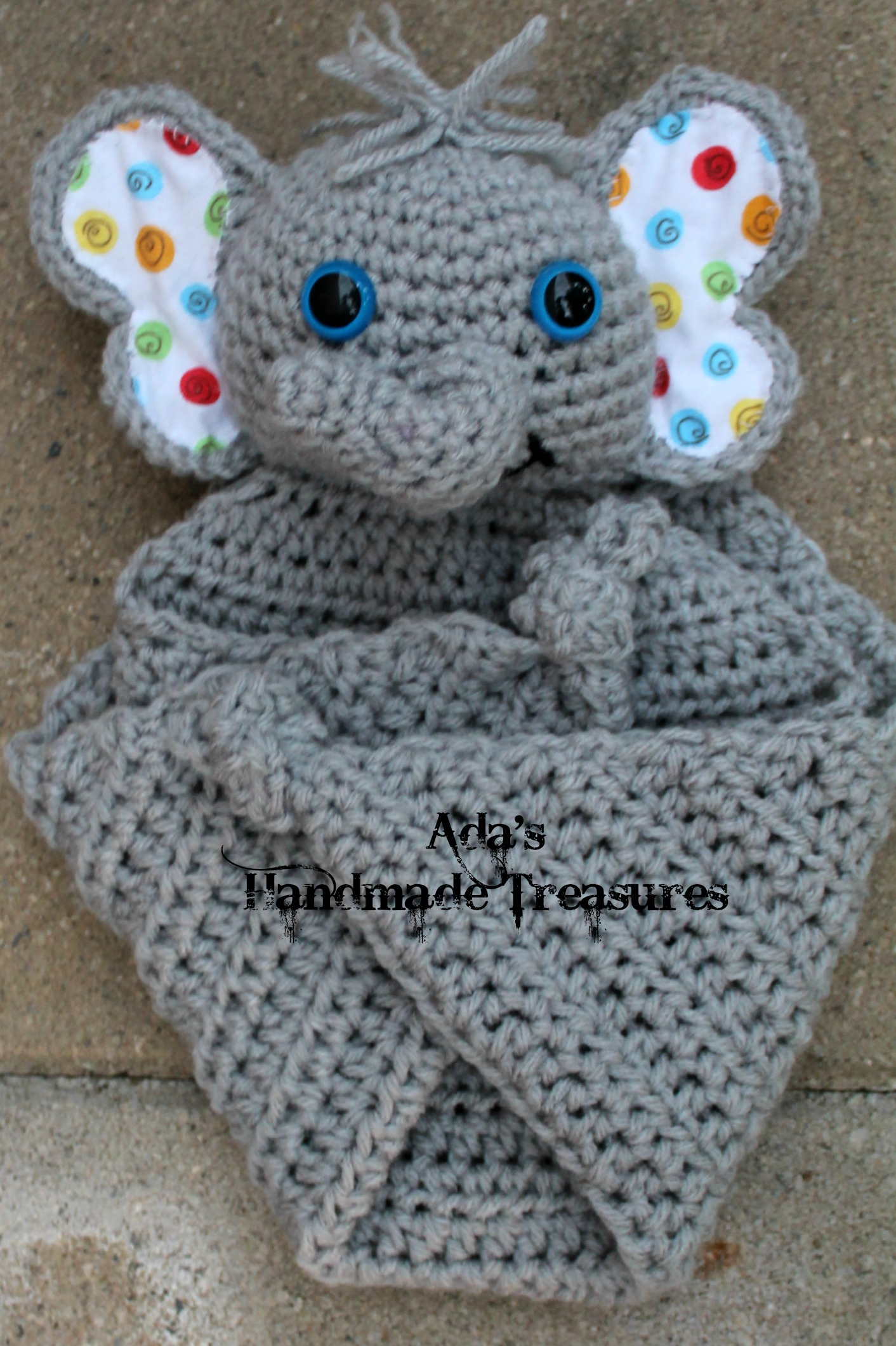 Crochet Pattern For Elephant Blanket : Crochet Cuddle blanket- ELEPHANT ? Adas Handmade ...