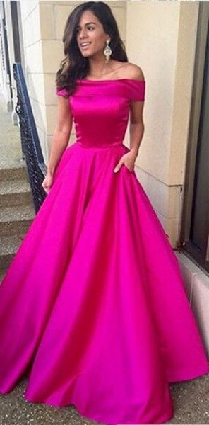 Off the Shoulder a Line Prom Dresses