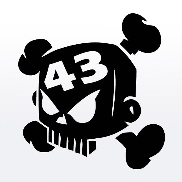 jekostore | Block Skull Ken Block 43 Logo Symbol White T SHIRT ...