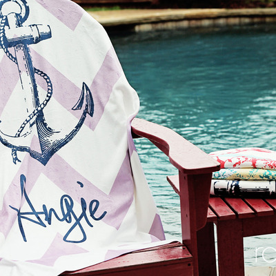 Seaside collection beach towel