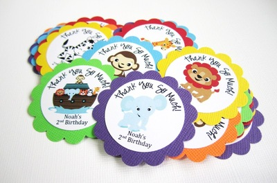 Noah's Ark Favor Tags, Personalized