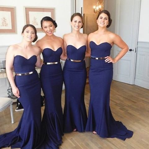 Navy Mermaid bridesmaid dresses, Sexy bridesmaid dresses, cheap ...