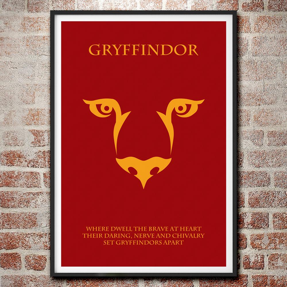 The Houses of Hogwarts: Gryffindor Minimalist Harry Potter Poster on ...