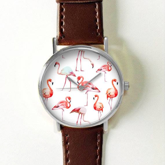 Flamingo Watch Women Watches Leather Unique Jewelry