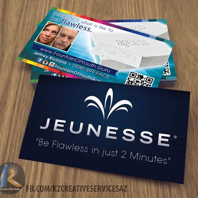 Jeunesse Business Cards style 8 · KZ Creative Services · Online ...