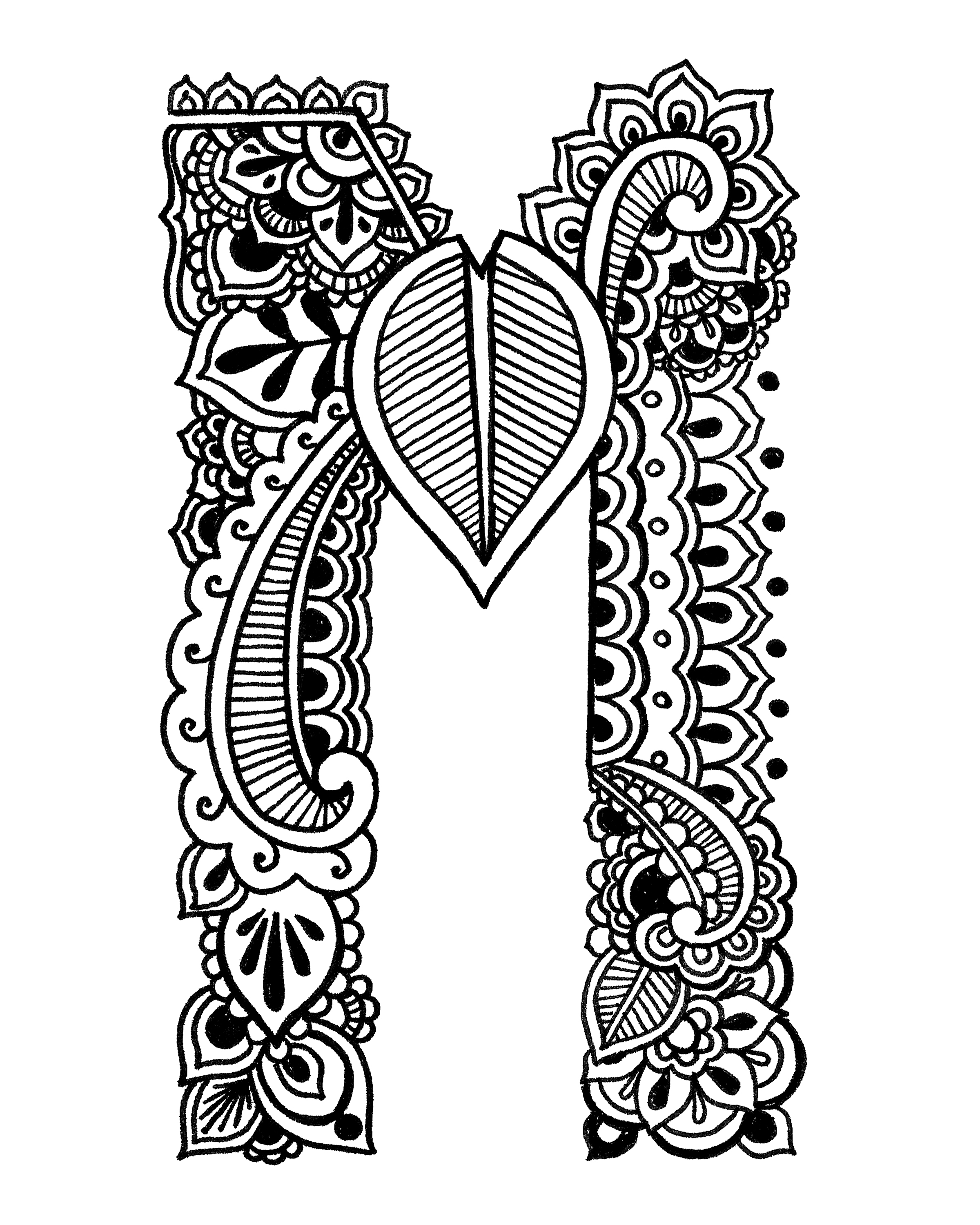 Henna coloring sheets for Henna coloring pages