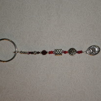 Beaded Keychain Red/Love Much, Laugh Often