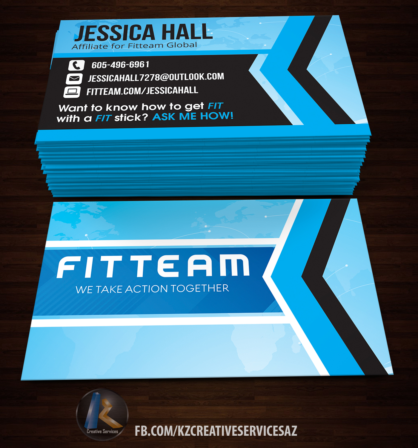 FITTEAM Business Cards style 2 · KZ Creative Services