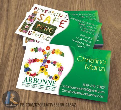 ARBONNE Business Cards style 3 · KZ Creative Services