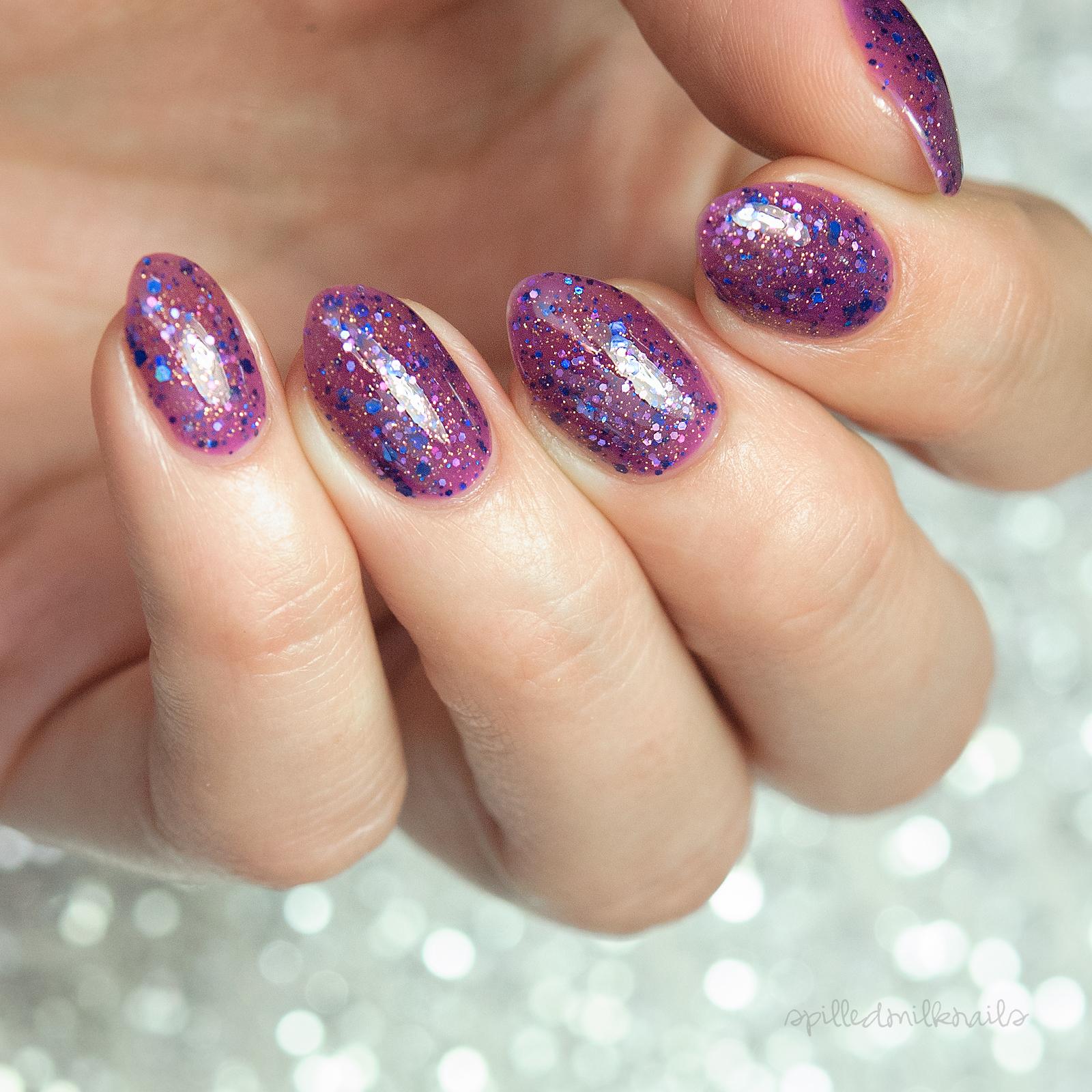 Vineyard - custom sheer purple jelly gold navy lavender holographic ...