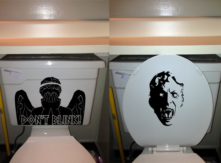 Walking Dead Promotions  Dont blink, weeping angel toilet decal ...