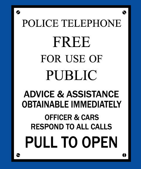 tardis  police box sign vinyl decal sticker on storenvy