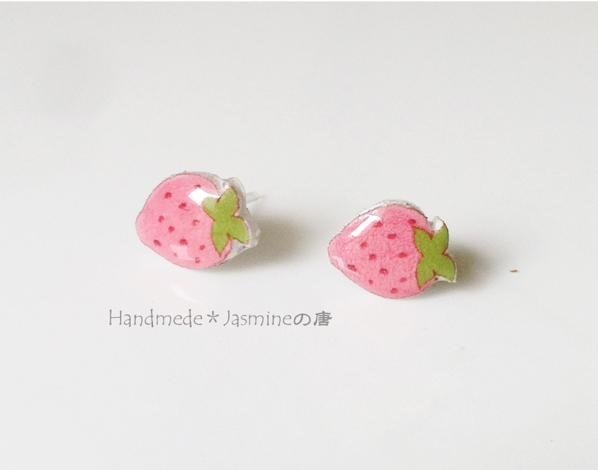 earrings strawberry asp sweet p stud